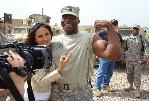 Leeann and Rodney in Iraq; 2009