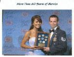 Leeann with an Airman at the USO Gala in Washington, DC; 2005