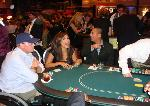 Leeann enjoying Casino Night with 2 wounded warriors in Washington, DC