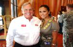 Leeann with Mr. Hendrick at Walter Reed; 2008